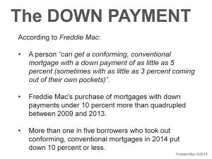 Downpayments